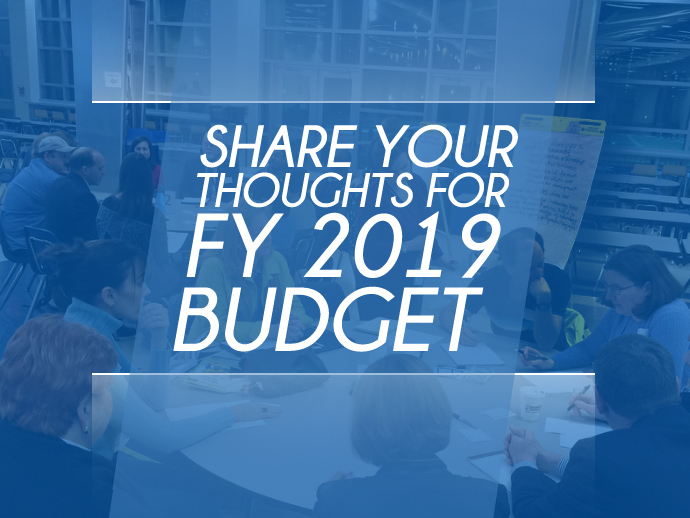 Feedback for FY 2019 Budget